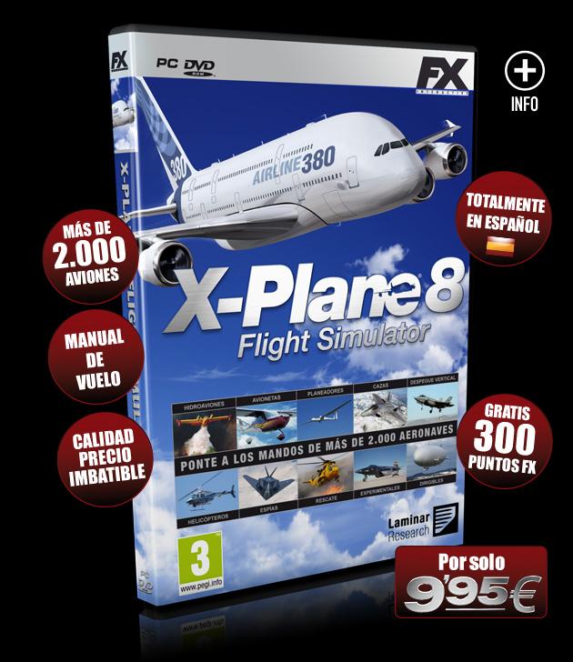 X-Plane 8 - Juegos - PC - Español - Simulador